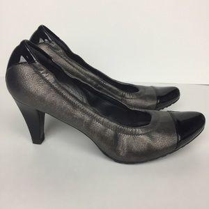 Stuart Weitzman Gunmetal Gray & Black Heels